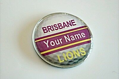 anneys - your OWN PERSONALISED  **LIONS** golf ball marker!!