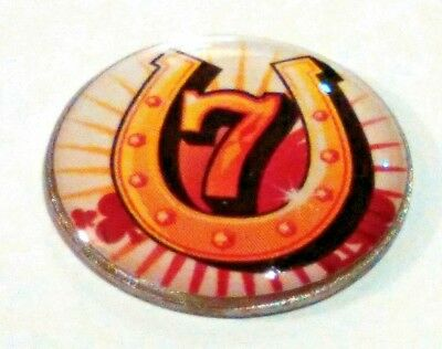 anneys ~ GOLF  BALL  MARKER - * lucky 7 * ~