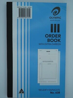10 x Olympic #638 Order Book Duplicate 100P 200x125mm 140863