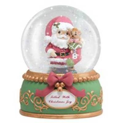 Precious Moments Water Globe Figurine Filled with Christmas Joy Waterball