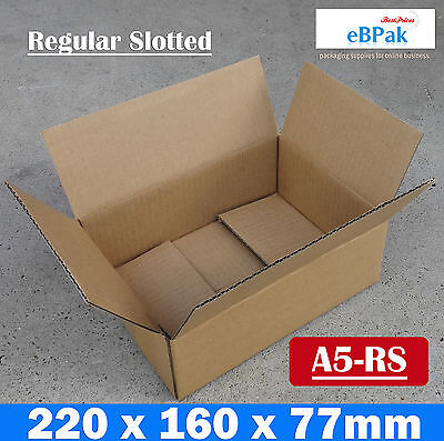 #A5-RS 100 220x160x77mm A5 BX1 SIZE Mailing Box - Brown Regular Slotted Carton