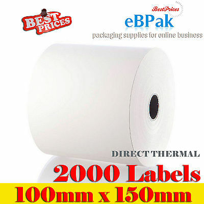 2000x Direct Thermal Shipping 100x150mm 4x6 Label for Fastway Startrack eParcel