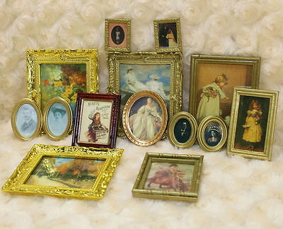 1:12 Dollhouse Miniature Framed Wall Painting Home Decor Room Items Lot 3 items