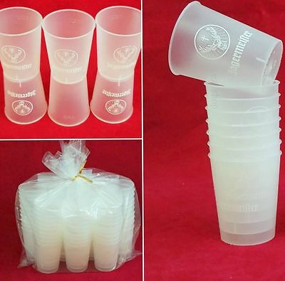 """Jagermeister 100 ct Disposable Jager Cups 1.5oz Plastic Clear Jello Shot cup 2"""""""