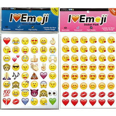 48 Die Emoji Smile Face Stickers Pack Decor Stickers For iPhone Twitter AU