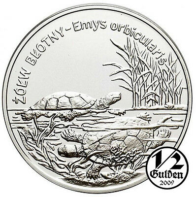 POLAND 20 Zlotych 2002 Pond Turtle Silver Proof Coin From Polish Mint