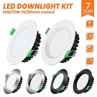 Led Downlight Kit 10W 13W 16W 18W Ip44 Dimmable Warm/daylight White 5Yr Warrant