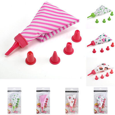 Useful Fondant Cake Icing Cream Piping Nozzles Bag Pastry Tips Decorate Tool Set
