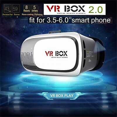 3D Google Glasses Cardboard 2nd Gen VR BOX Virtual Reality Headset 3.5-6.0 Phone