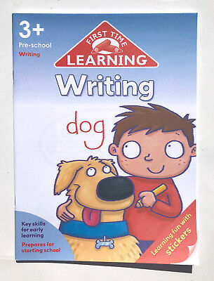 ks1 first time learning writing workbook kids ages 3+ preschool with stickers ne