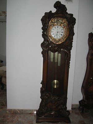 Clock Baroque Style  Hand - Carved Grandfather Clock