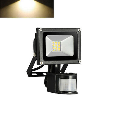 LED Warm White 20W Floodlight Outdoor Security Light IP65 PIR Motion Sensor Lamp