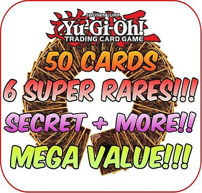 YuGiOh Card Bundle Mix Deck Collection - MEGA Value ~Super & Secret NO REPEATS!*