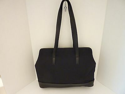 Tumi Black Nylon & Leather Business Shoulder Bag Tote