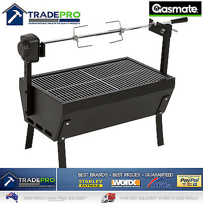 Spit Roaster Rotisserie BBQ LARGE with Charcoal Grill Quality Heavy Duty 650mm