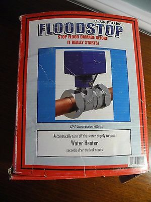 "Floodstop Onsite Pro Inc FS3/4C For Water Heater 3/4"" Compression in Box"