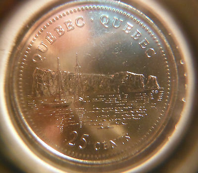 1992 ** 125th Anniversary Confederation ** Quebec ** 25 cents ** From Mint Roll