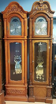 New Grandfather Clock , German Triple Chime Cable Driven Mechanism, Solid Wood