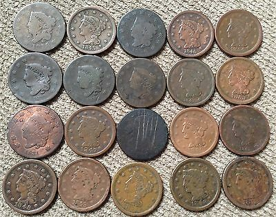 20 low grade Large Cents - Lot 2