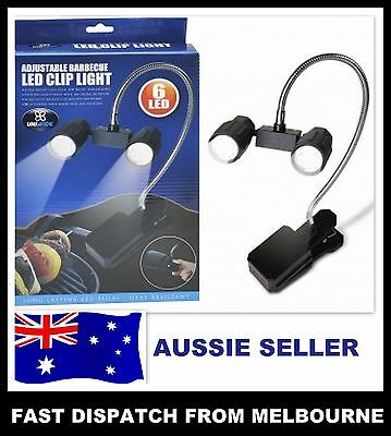 Adjustable BBQ LED CLIP ON LIGHT Flexible Barbeque Barbecue Bright Reading AUZZI
