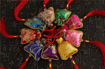 9 Color Chinese Lucky Feng Shui Charm,Car hang, Good Fortune, Wealth, Gift