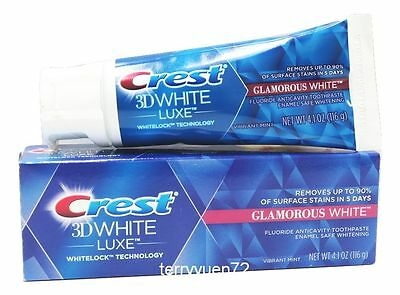 Crest 3D White Luxe Glamorous Teeth Vibrant Mint Toothpaste 4.1 oz 116g