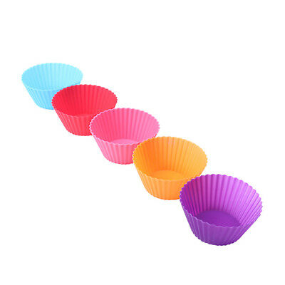 12X Silicone Muffin Case Round Cake Liner Cupcake Chocolate Cup Baking Mold WS