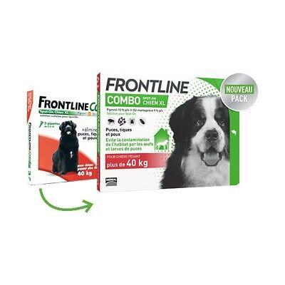 Frontline Combo Spot-On XL Chien (>40 kg) - 4 pipettes