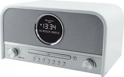 Soundmaster NR850WE in Weiß, UKW/PLL/DAB+ Radio, Bluetooth, CD/MP3, USB, LCD-Uhr