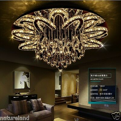 Crystal LED light chandelier ceiling pendant lamp fixture Curtain hang hall D1