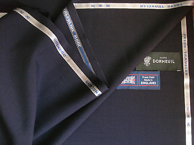 """DORMEUIL """"FRESH TRAVELER"""" SUPERFINE WOOL SUITING FABRIC- 3.4 m.- MADE IN ENGLAND"""