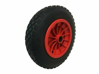 "PU 14"" SOLID Puncture Proof BLACK Wheelbarrow Wheel Tyre 3.50 - 8 FOAM FILLED"