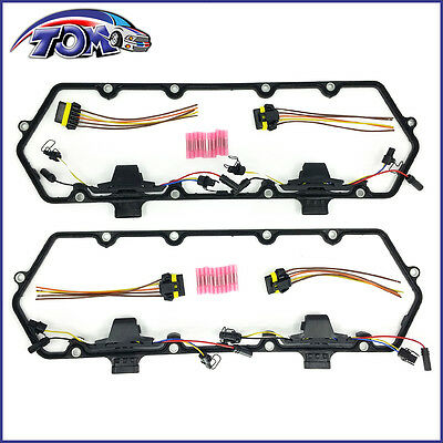 Brand New Valve Cover Gaskets Harness & Pigtail Kit For Ford 7.3L Turbo Diesel