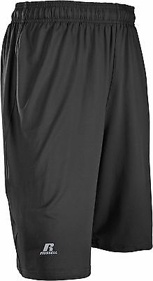 Russell Mens Stretch Performance Black Shorts Basketball Running Practice Short