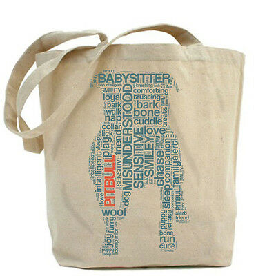Pit Bull Text Jumbo Tote (RLT003PBT) - Free Shipping