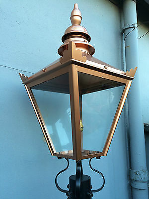 Large Victorian Style Copper colour Lantern( for brackets & lamp posts lamp top
