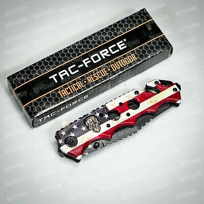 Tac Force Collectors 3D Spider Web Handle Spring Assisted Pocket Knife [Rainbow]
