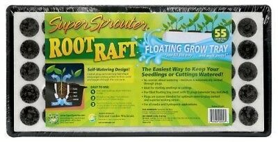 Super Sprouter Root Raft Floating Grow Tray 55 Grow Sites With Plugs Peat Moss