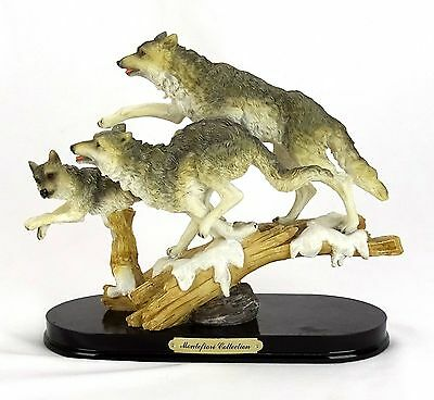 Montefiore Collection Running Wolves Sculpture
