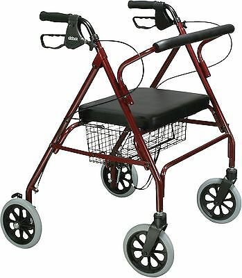 Heavy Duty Bariatric Rollator Walker, Large Padded Seat, 500 lbs. max weight
