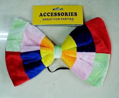 GIANT 30cm BOW TIE MAD HATTER ALICE IN WONDERLAND UNISEX STYLE FANCY DRESS PARTY