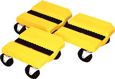 SUPERCADDY SS YEL Four Wheel Dolly 3 Piece Set - Yellow