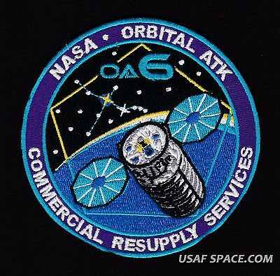 OA-6 ORBITAL ATK - ISS NASA COMMERCIAL RESUPPLY - ORIGINAL AB Emblem SPACE PATCH