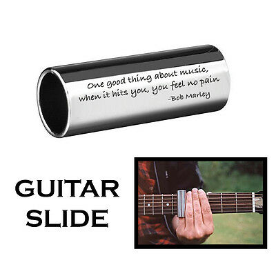 Personalized Stainless Steel Guitar Slide Custom Engraved With 2 Lines For Free