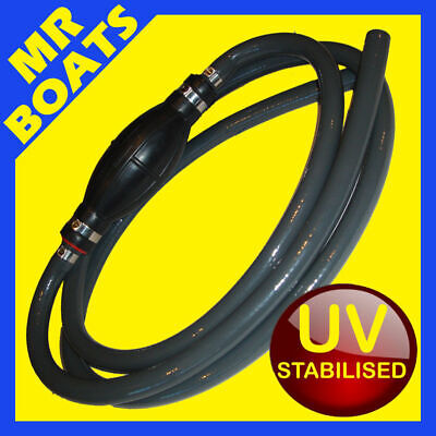 OUTBOARD FUEL LINE HOSE BULB Universal 3/8, 10mm ID Hose ✱UV Stabilised ✱4 Boats