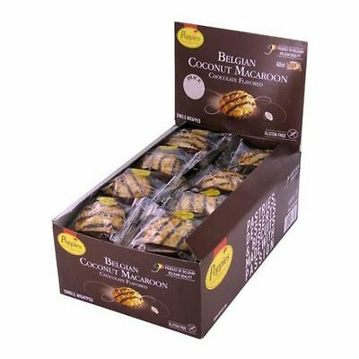 Poppies Chocolate Flavored Belgian Coconut Macaroon, 1.4 Ounce - 40 per pack --