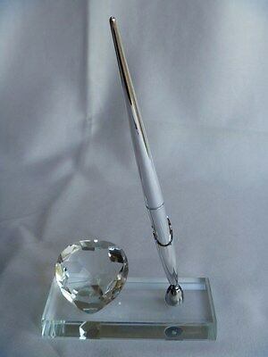 Wedding Heart Crystal Signature Pen with Stand - Autograph, Guest Book