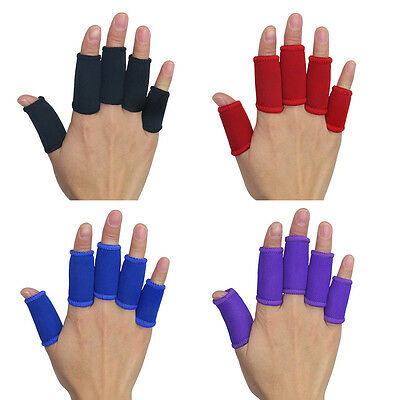 5Pcs Kuangmi Stretchy Finger Sleeves Support Wrap Arthritis Guard Basketball