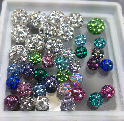 Ferido Crystal Ball 1.2*4mm and 1.6*6mm Mix colors