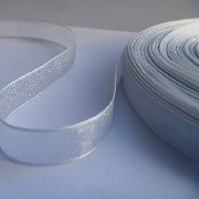 16mm Organza Ribbon - Silver - 45 meters (50 yards)
